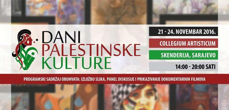 Centar za balkanske i bliskoistočne studije organizuje Dane palestinske kulture
